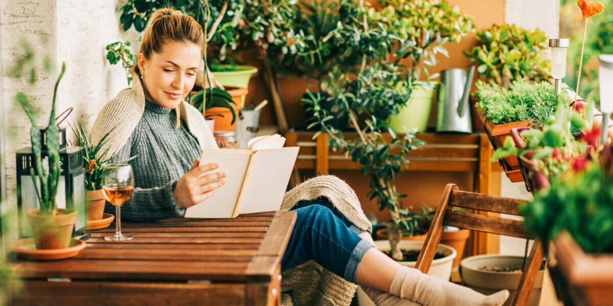 Thuis met boek